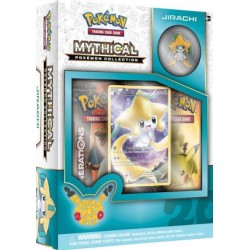 COFFRET BOOSTERS pokemon MYTHICAL 20th anniversaire pins box JIRACHI GENERATIONS