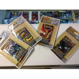 lot 4 Boosters blisters Pokemon Heart Gold Soul Silver en francais