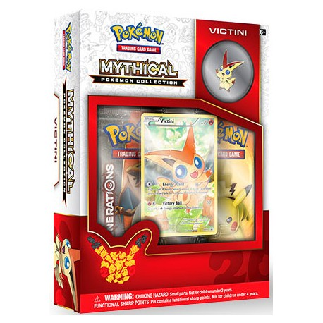 COFFRET BOOSTERS pokemon MYTHICAL 20th anniversaire pins box ARCEUS GENERATIONS