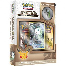 COFFRET BOOSTERS pokemon MYTHICAL 20th anniversaire pins box MELOETTA GENERATIONS