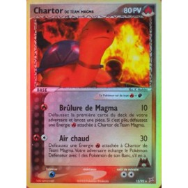 HOLO carte Pokemon ex team magma vs team aqua CHARTOR 12/95 NEUF fr no display no booster