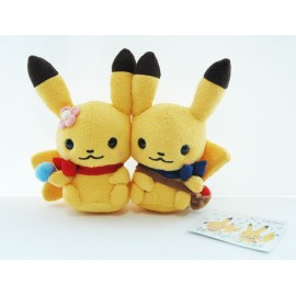 OFFICIEL POKEMON CENTER PELUCHE PLUSH LITTLE TALES PIKACHU DUO