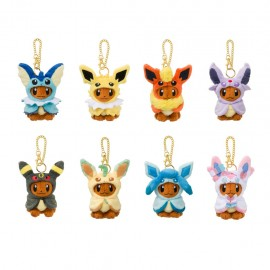 OFFICIEL POKEMON CENTER PLUSH PORTE CLE evoli noctali mentali voltali aquali pyroli phylalli givrali nymphali